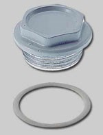 Пробка (заглушка) для рад. 1  (прав.) с прокладкой EPDM