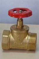 Клапан (вентиль) пожарный латунный КПЛП 50-1 (15Б3р) Ру 1,6 МПа муфта-цапка прямоточный