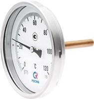 Термометр ТИП-БТ-51.211, 0-120грд., Ду100мм, шток осевой 200х6мм