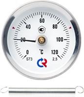 Термометр ТИП-БТ-30, 0-120грд., крепление - пружина