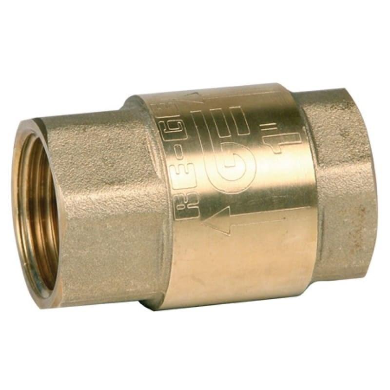Клапан обратный пружинный Genebre 3121 05, DN20 PN25, Латунь/Латунь/NBR, вн.резьба - фото 13272