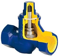 V277-50 - Обратный клапан муфтовый чугунный Ду50, Ру16 - фото 6315