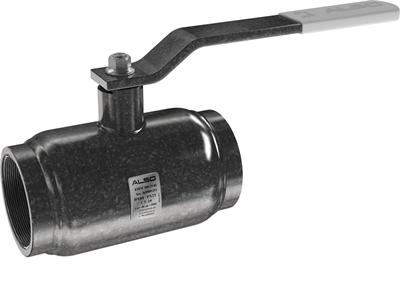 Кран шаровой  ALSO  муфтовый КШМ Ду100/76 Ру 2,5 МПа из Ст.20 (L=200 мм) - фото 8688