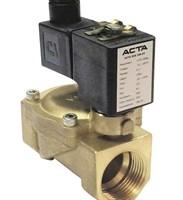 Клапан соленоидный Plesk P4600-25-250-1HA, DN25 PN24, НЗ, ПС25,0мм, KV180л/м, Tmax +100°С