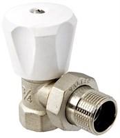 VT.007.LN.04 Клапан ручной VALTEC (компактный), для радиатора, угловой 1/2