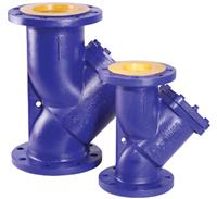 Фильтр фл.Rushwork 600-080-16/1,2, DN80, PN16, GG25, t - 200°C. Сетка 1,2 мм. Со сливной пробкой