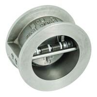 Клапан обратный двустворчатый Genebre 2402 12, DN100 PN25, м/ф, корпус - нерж. AISI 316, +180°C