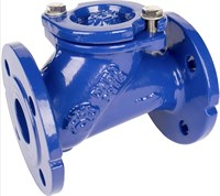 405-050-16 Клапан обратный шаровый фланцевый RUSHWORK DN50 PN16, корпус-чугун GGG-40, Tmax=80°C