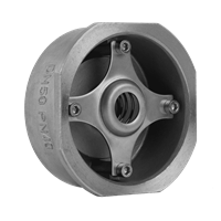 Клапан обратный пружинный нержавеющий м/фл ГРАНЛОК CVS-40.04.050.40.М/Ф,DN50,PN40, Тmax=300°С