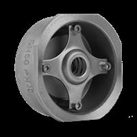 Клапан обратный пружинный нержавеющий м/фл ГРАНЛОК CVS-40.04.032.40.М/Ф,DN32,PN40, Тmax=400°С