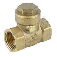 Клапан обр.  поворотный лат. Ду15 Ру40  ВР/ВР  заслонка-лат. Aquasfera (3003-01)