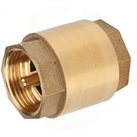 Клапан обратный лат. пружинный Ду25 Ру16 муфт. G1   шток латунь L=51 мм