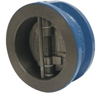 Клапан обратный двустворчатый Genebre 2401 09, DN50 PN16, GG25 / 1.4408 / NBR