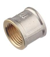 Муфта прямая Ду40 (1-1/2 ) г/г латунь никелированная СТМ