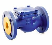 Обратный клапан подъёмный фланцевый DN 20 REON тип RSV33, (PN16, Тmax=300°С, корпус чугун GG25)