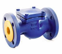 Обратный клапан подъёмный фланцевый DN 25 REON тип RSV33, (PN16, Тmax=300°С, корпус чугун GG25)