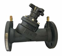 Клапан балан. руч.фл. с изм.нип. DN100 REON тип RSV55 (PN16, Тmax=120°С, корп.- чуг, Kv=211.2м³/ч)