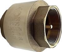 Обратный клапан пруж. Aquasfera латун. муф. DN50 (2 ) PN25 с ЛАТУННЫМ ШТОКОМ 3002-06