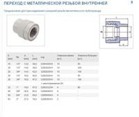 PPR Муфта В.Р. 63х2  EK (серый)
