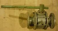Кран шаровый стальной с паровым обогревом Ду 80 Ру16 фл.