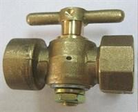 Кран трёхходовой латунный литой без фланца исп. 2 - М20х1,5 / G1/2 - 1,6 МПа