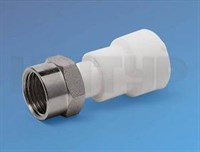 PPR Муфта с накидной гайкой  D20 - 1/2  (белый)