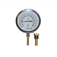 Термометр БИМЕТАЛЛ, 100мм, ТБ-100-100 0+150°С-1,5-Р, G1/2 (шток радиальный L=100мм - снизу)